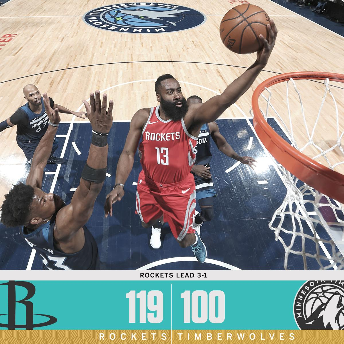 The Rockets took over in Minnesota to grab the 3-1 series lead. https://t.co/ygpjvaiwBY