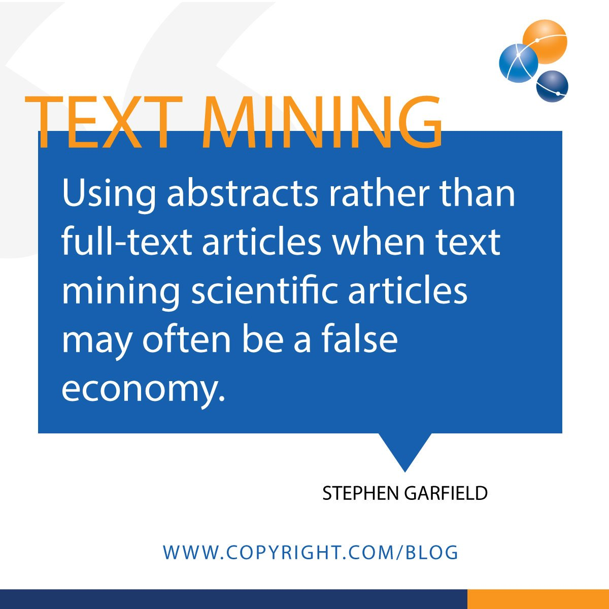 test Twitter Media - #TextMining on full-text offers more facts, more kinds of facts and quicker paths to insights than simply mining abstracts. Discover why you need the full picture. https://t.co/VouaLb2Z8C https://t.co/QRk1Ch9MDD