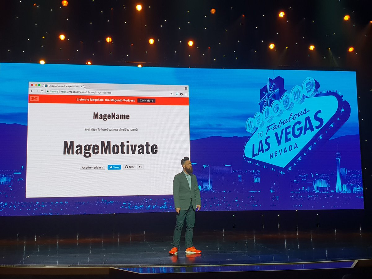 flagbit: This year's host @philwinkle helps to optimize your company name for @magento business #MagentoImagine https://t.co/VEYsIQ6B2w