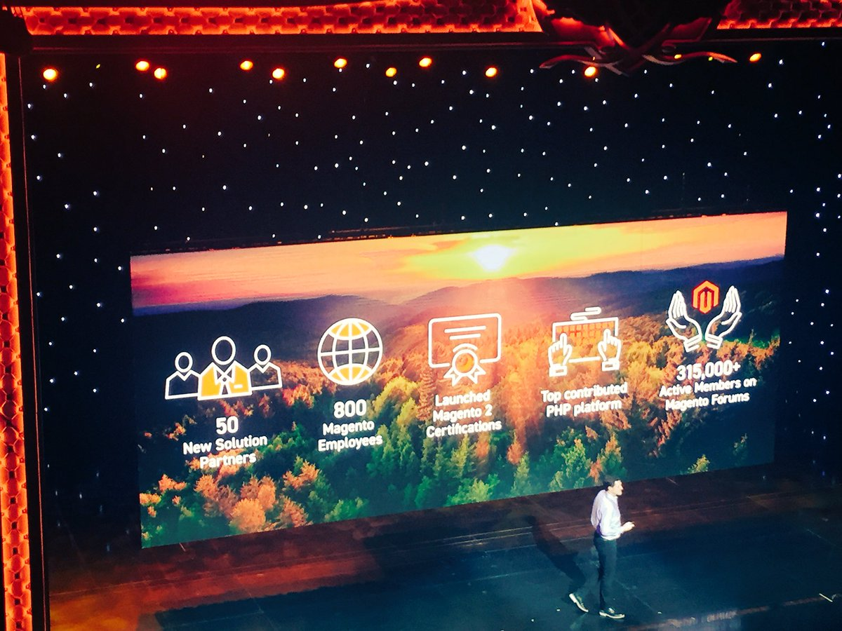 DCKAP: Big shout out to the entire @Magento community @mklave1 #MagentoImagine https://t.co/I47dSkZQxx