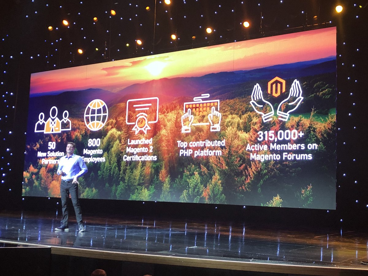 alexanderdamm: Magento achievements in the last year #Magento #MagentoImagine https://t.co/LiEMj3xmut