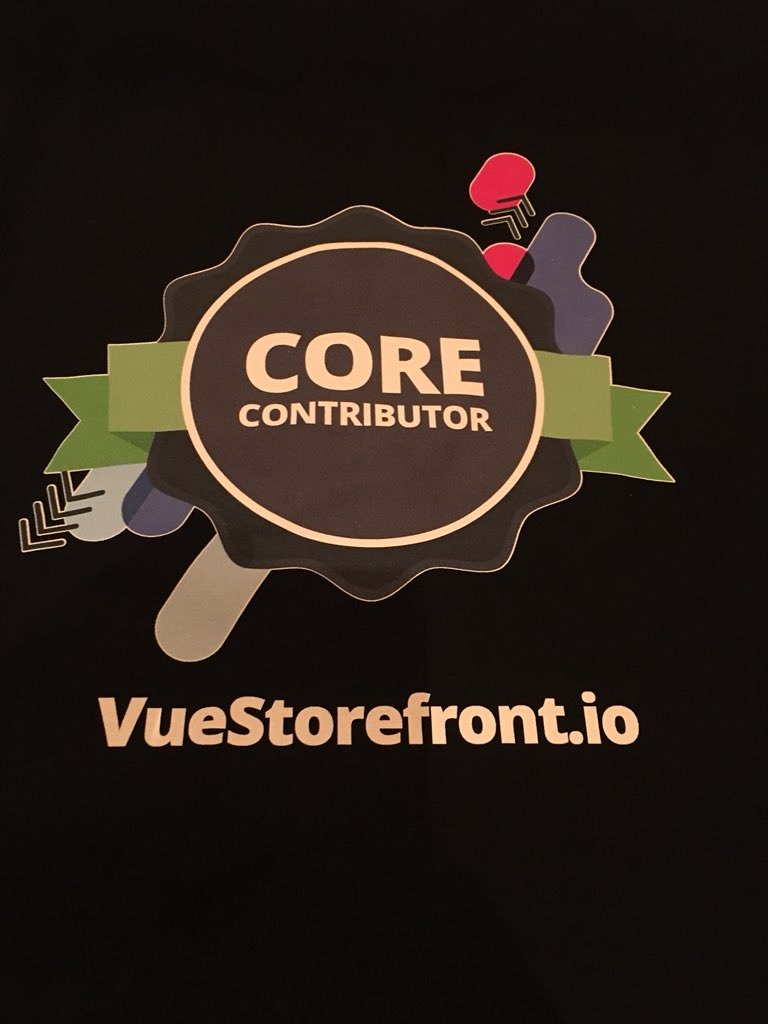 summasolutions: Thanks @DivanteLTD for this cool VueStorefront Core Contributor Shirt! #MagentoImagine #vuestorefront #PWA https://t.co/kXMP1fBIVf