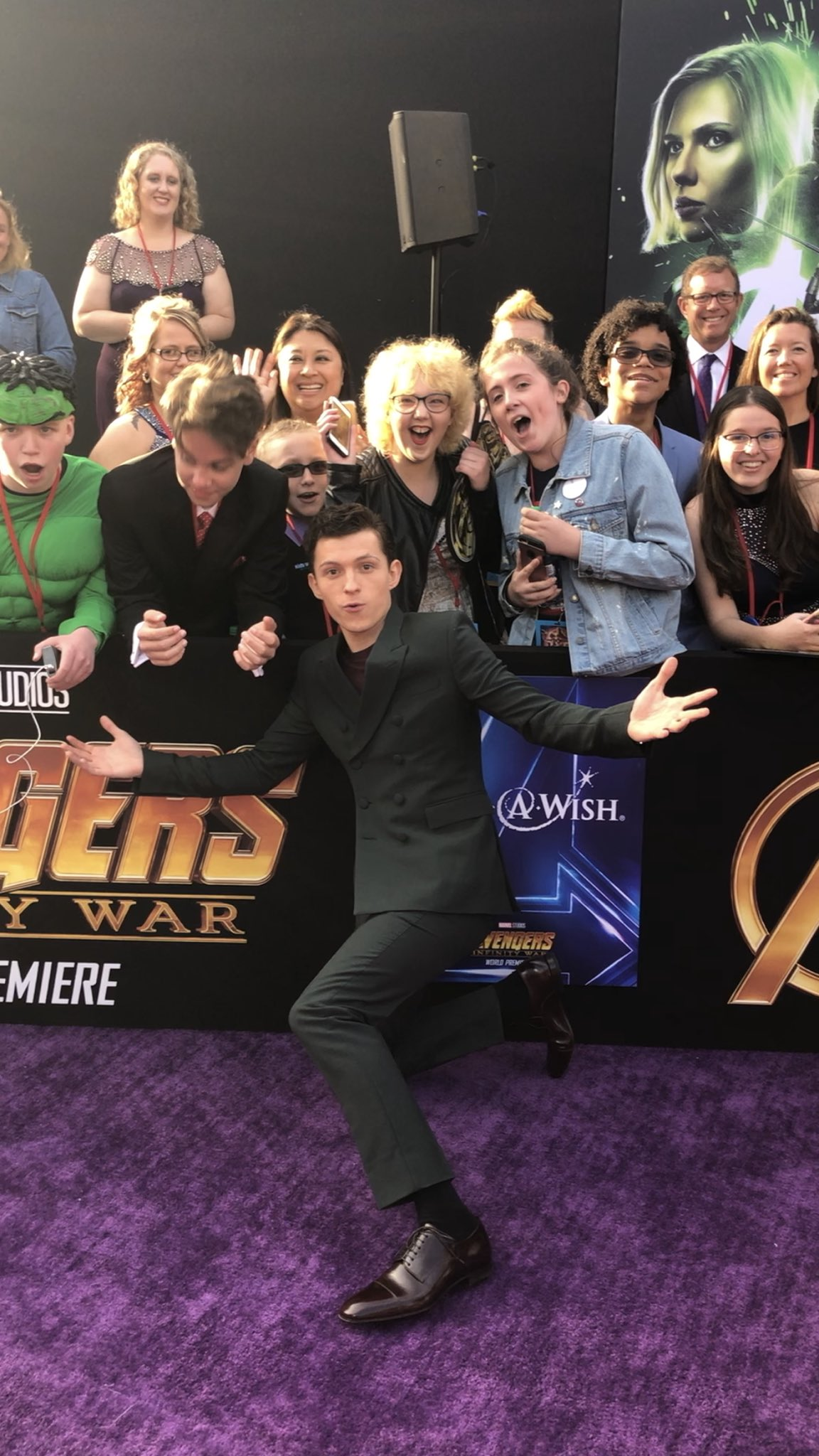 The Spidey Sense is real with @TomHolland1996. #InfinityWar https://t.co/L4iKT2UpSm