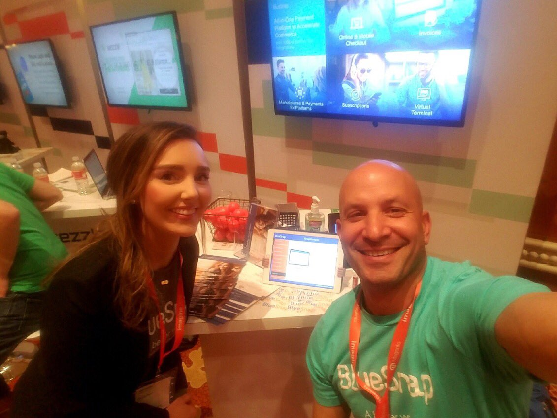 MariAtBlueSnap: Come say hi to @BlueSnapInc BlueSnap at booth #66 #MagentoImagine #roadtoimagine #ABetterWay https://t.co/WSH48e2X6Q