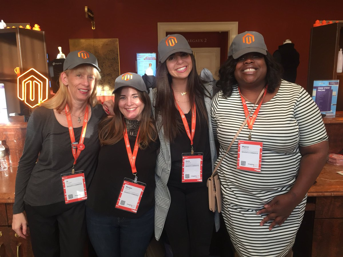 Morgan_Sacco: @magento @whoisdelina swag store! #magentoimagine ...not normally a swag person, but these hats are so cute! https://t.co/2mVfT58U7z