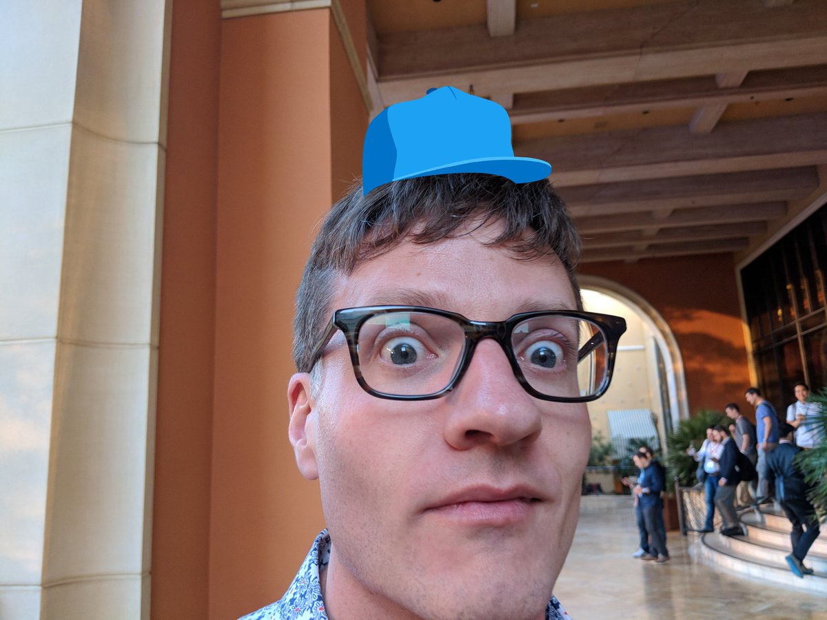UXdanielle: I was told @markabrinton had an AR hat for #MagentoHatMonday and I think I finally see it #MagentoImagine https://t.co/N5NFqPwk3i
