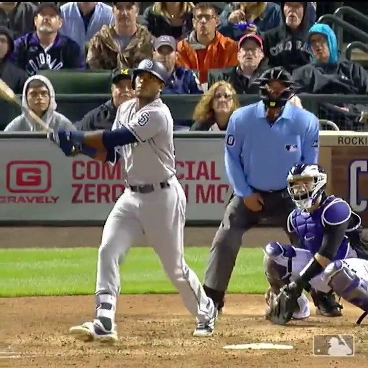 Franchy hit one into the forest. �� https://t.co/MfWcUFNu1B