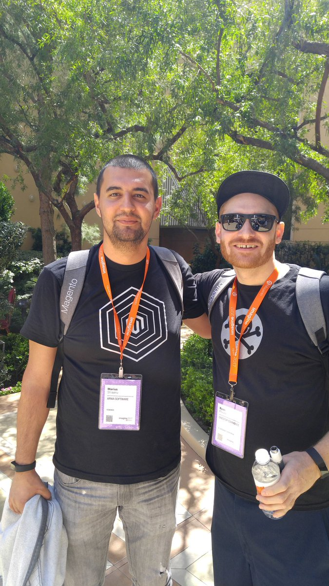 happyryanf: I ran into @MariusStrajeru at #MagentoIMagine ! https://t.co/dDcbPtbLqF