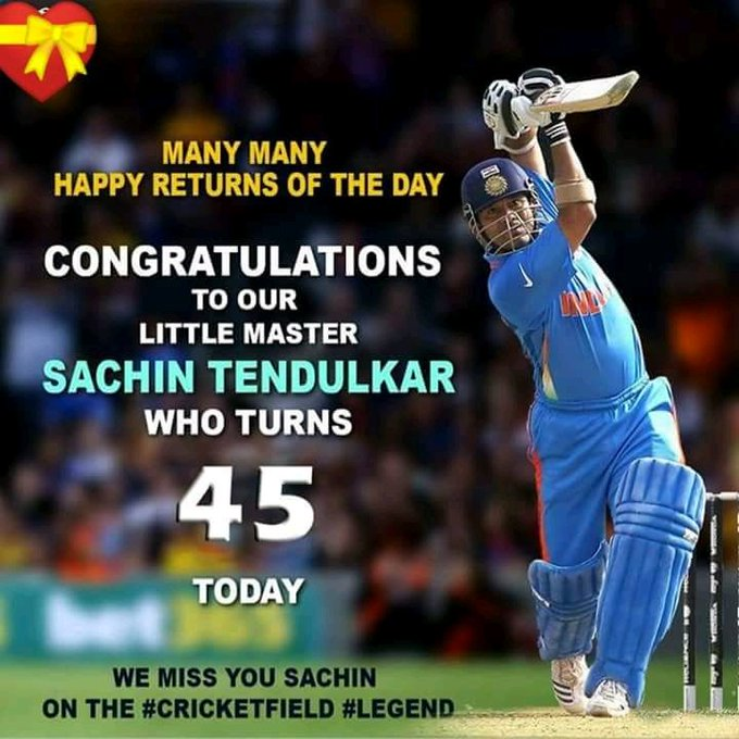 Happy birthday god of cricket. .  # sachin tendulkar
