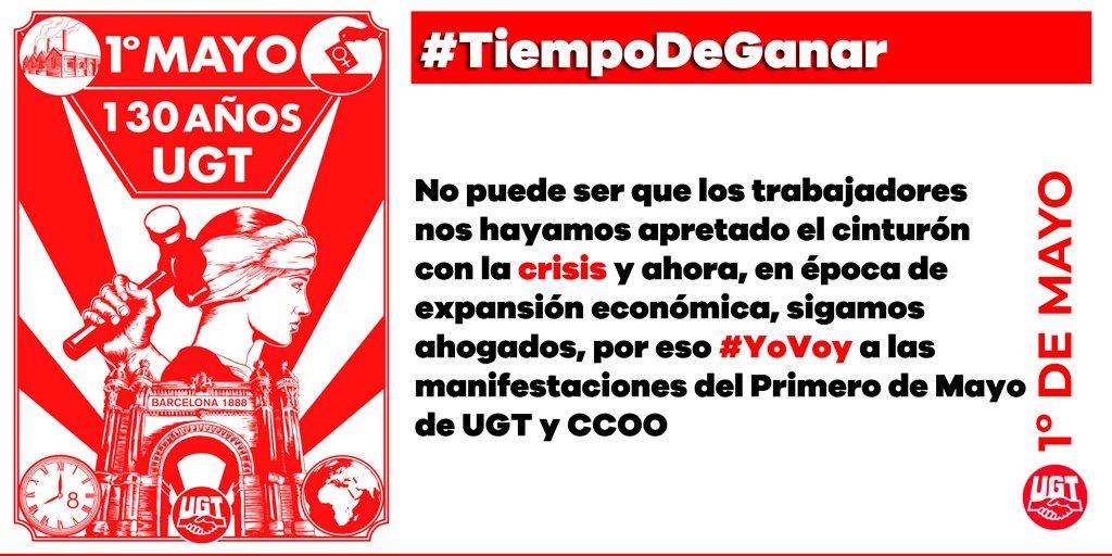RT @UGT_Comunica: 1º de Mayo #TiempodeGanar https://t.co/Pej2l4Fiq7