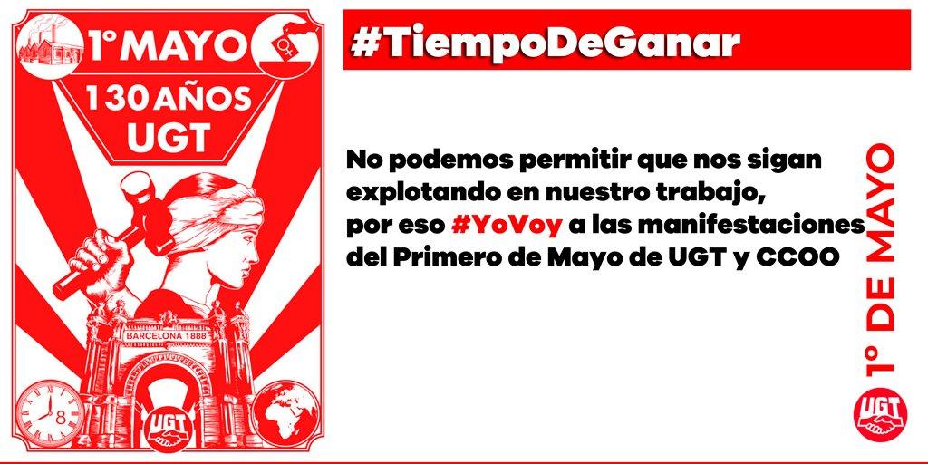 RT @UGT_Comunica: 1º de Mayo #TiempodeGanar https://t.co/gWj9s5k50T