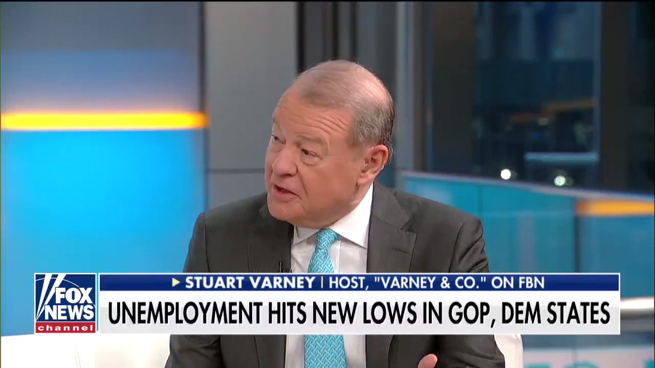 Stuart Varney: 'The #Trump economy is a fully employed economy and expanding fast.' https://t.co/DH8i7N5HvB