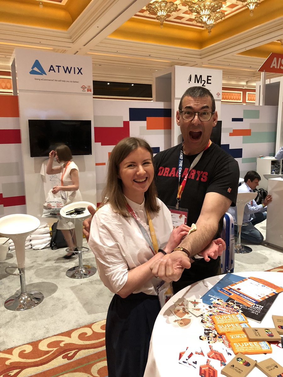 atwixcom: Want to get a #magentoimagine tatoo for the legendary party, like @BobSchwartz did? Head to our booth! https://t.co/MPOFCnm16O