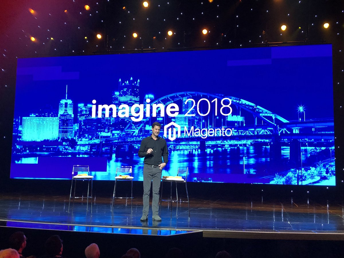 alexanderdamm: Day two starts with keynote nr. 2. @mklave1 on Stage at #MagentoImagine #Magento https://t.co/3qerGYDwJY