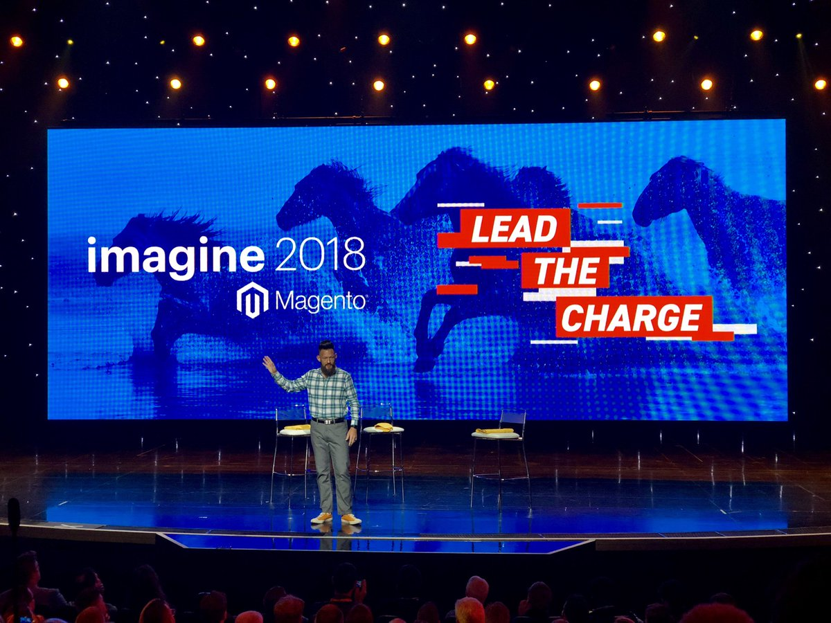 JohnHughes1984: The main man @philwinkle crushing it on the #MagentoImagine stage again 🙌 https://t.co/m9XQ78VrkV