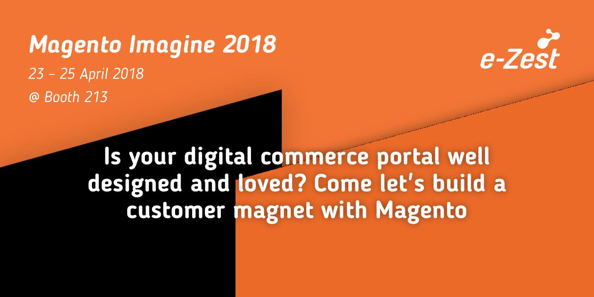 ezest: Let's join hands for the betterment of your customers. Booth#213 #magentoImagine2018 #MagentoImagine #imagine2018 https://t.co/3CYfGF0pFv