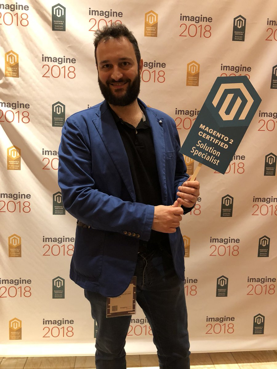 MagentoU: Congrats to Marco Giorgetti on passing your M2 Solution Specialist exam! @midimarcus #magentoimagine https://t.co/eUSURDglAz