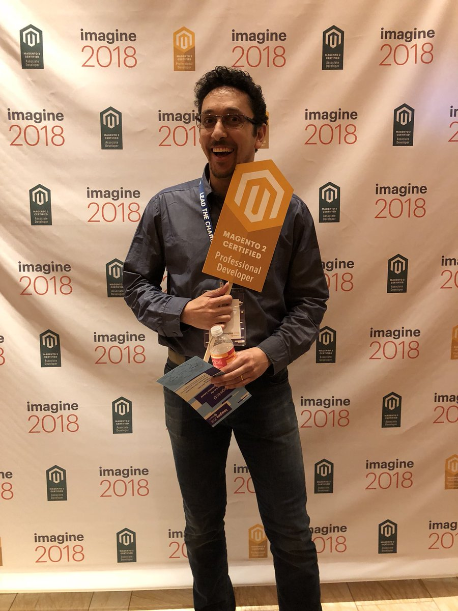 MagentoU: Congrats to Riccardo Tempesta on passing your M2 Professional Developer exam!! @RicTempesta #MagentoImagine https://t.co/s748g2fkRs