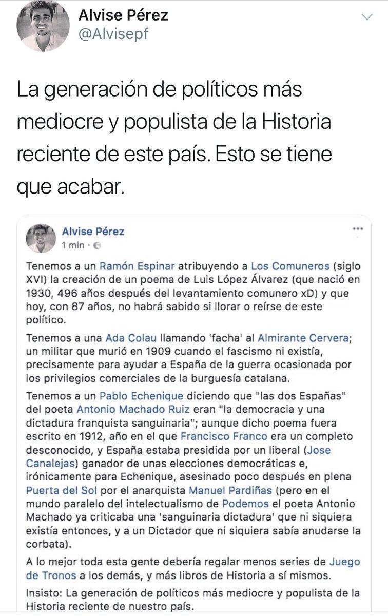 RT @mejoreszasca: Zasca!!!!!!!!! de @Alvisepf a @RamonEspinar @AdaColau y @pnique . Vía @GatoCurioso77 https://t.co/e0OZzRxxWv