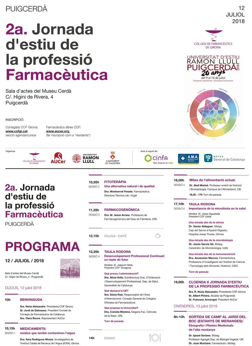 test Twitter Media - T'esperem a la 2a Jornada d'Estiu de la Professió Farmacèutica, a Puigcerdà. Consulta el programa! https://t.co/yIaBBjt41P