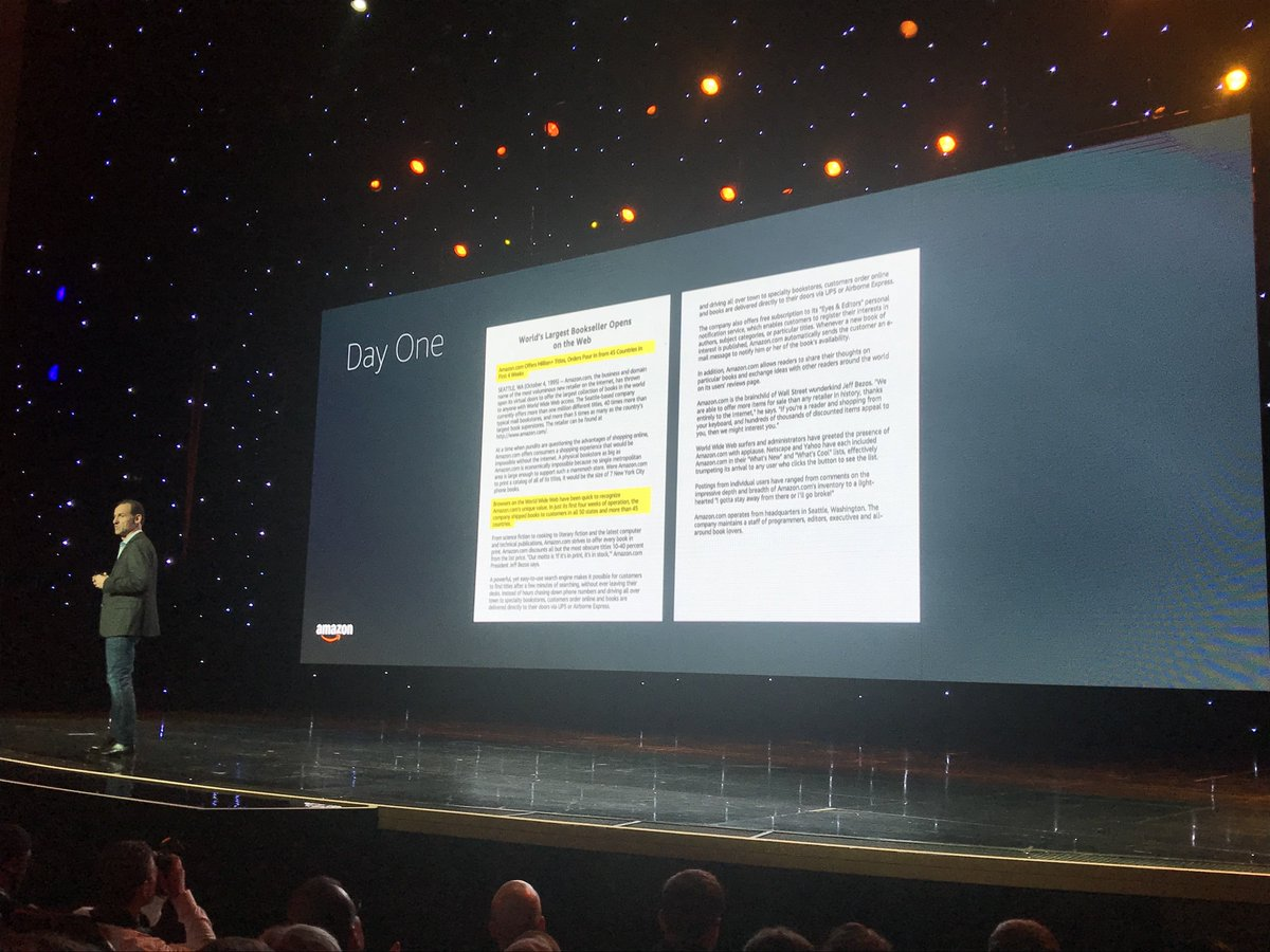 brentwpeterson: The First Amazon press release written by Jeff in 1995 #MagentoImagine driven by one key vision 'Selection' https://t.co/Ch9nJ12ADN