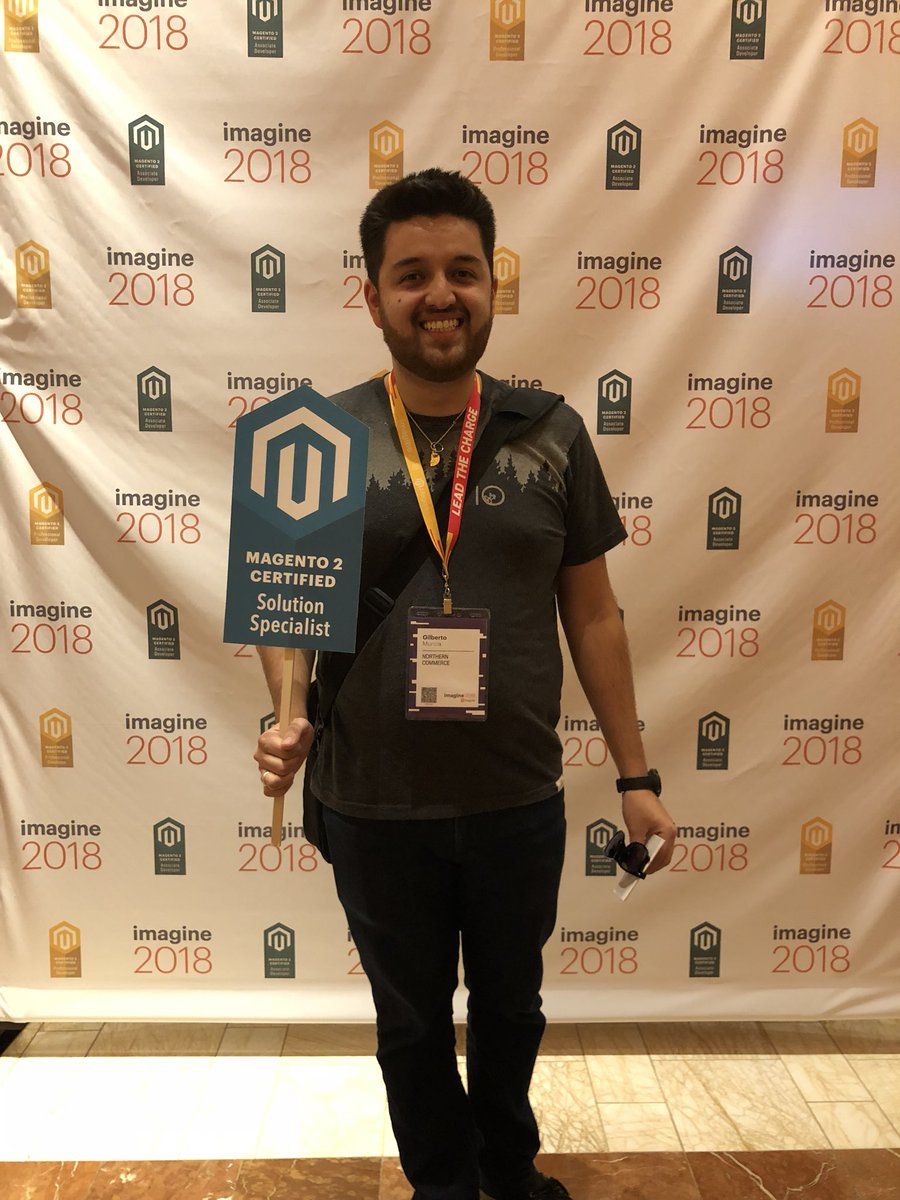 MagentoU: Congrats to Gilberto Murcia on passing your M2 Solution Specialist exam! #MagentoImagine @northern.co https://t.co/V7jIzb87dS