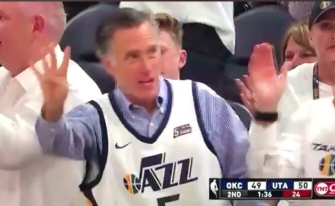 Mitt Romney's trash-talking at utah jazz