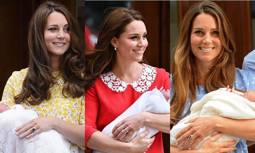The difference between all three of Kate Middleton's perfect post baby blow dries
