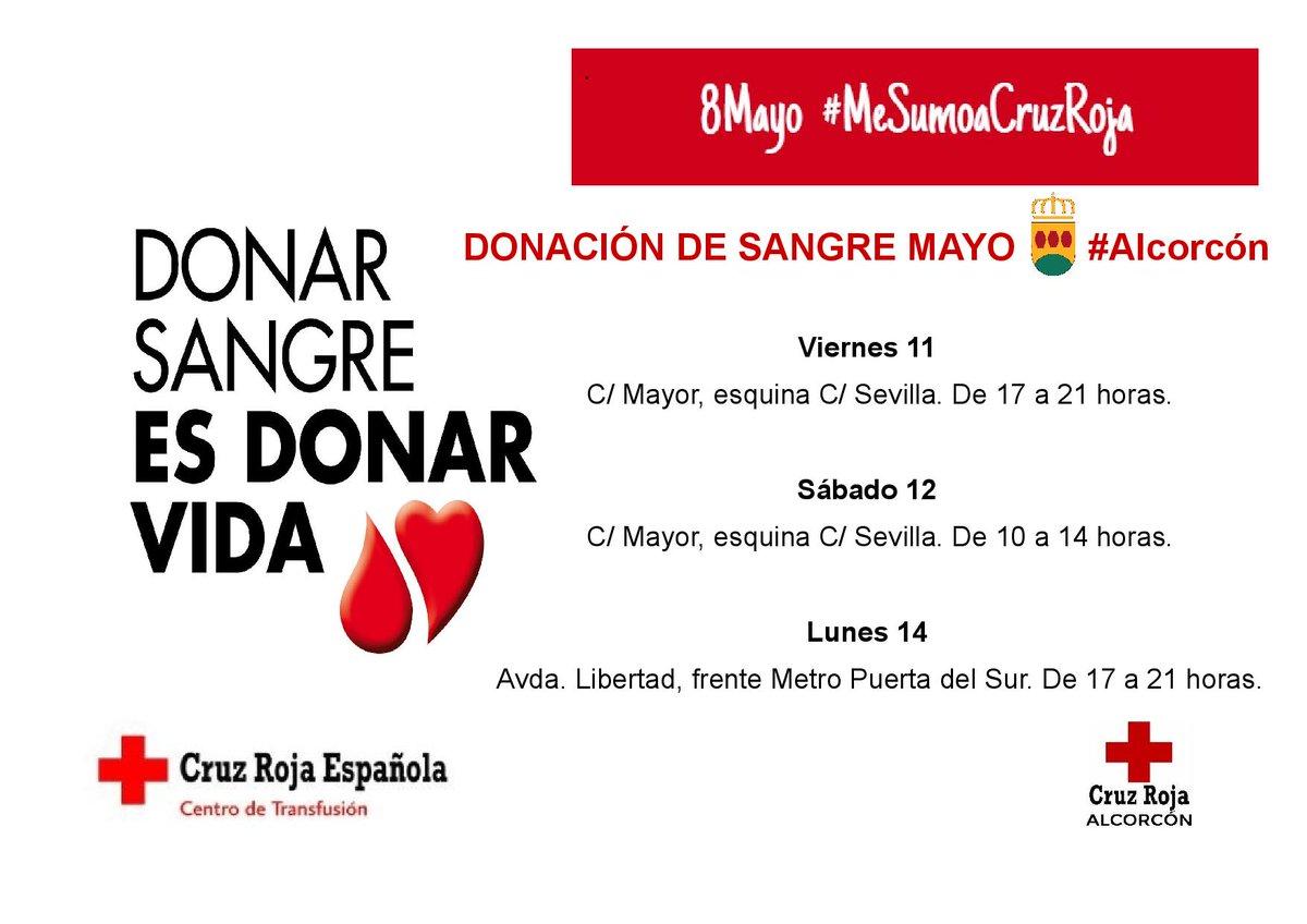 RT @cruzrojalcorcon: CAMPAÑA DONACIÓN DE SANGRE #Alcorcón Mayo 2018 Gracias de todo❤️ https://t.co/wbfHYmIhgC