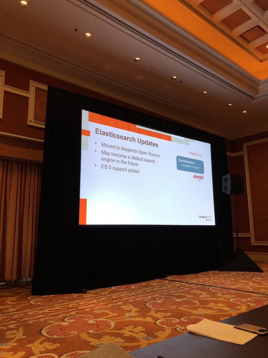 WebShopApps: #Magento Open source 2.3 now also includes Elastic search #MagentoImagine https://t.co/kKe1azaylR