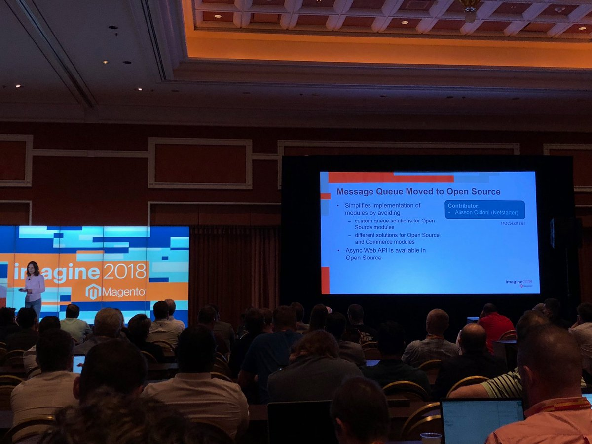 sylvainraye: Message queue moving & Elasticsearch to the Open Source version into 2.3 #MagentoImagine great news!!! https://t.co/nWMXFuarRZ