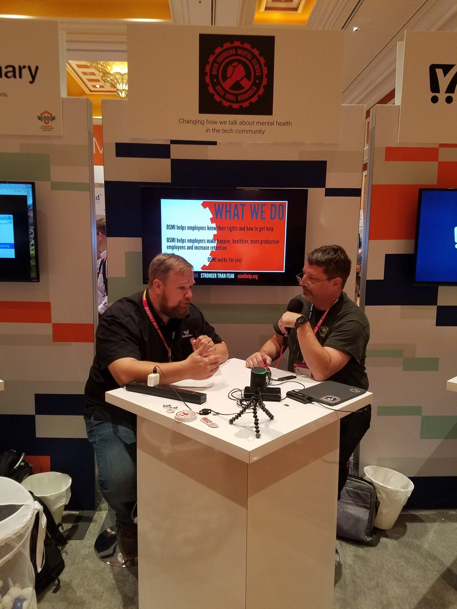 magento: .@ecommerceaholic @CalEvans podcasting out of the @OSMIhelp both in #MagentoImagine Sponsor Marketplace https://t.co/ZWSaO7lkTV