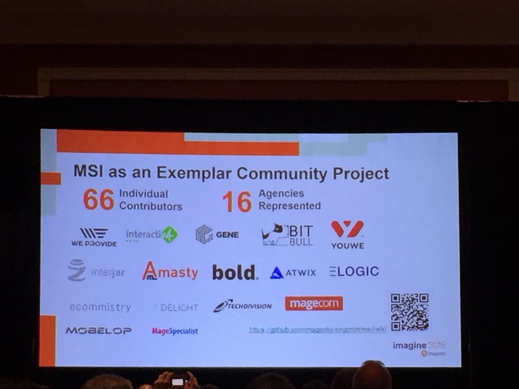 vrann: 16 agencies and solution partners participated in development of #MagentoMSI @buskamuza #MagentoImagine https://t.co/YSw6uHHgf2