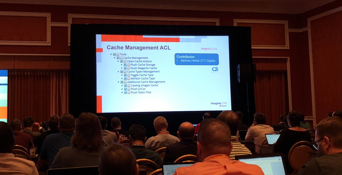sylvainraye: Surprise (for me) ACL cache management for @magento 2.3 version #MagentoImagine https://t.co/4OZinU2oYB