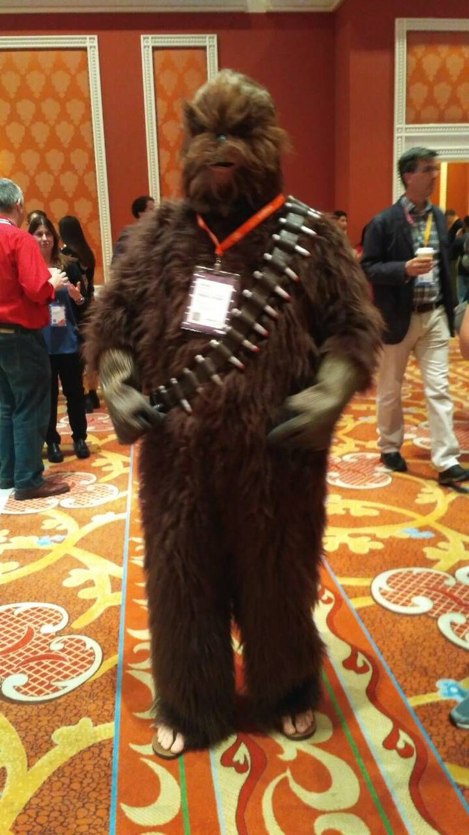 Qamadness: Hey, we've met Chewbacca here at #MagentoImagine! Nice to meet you, Chewie! https://t.co/HMa9COkOYj