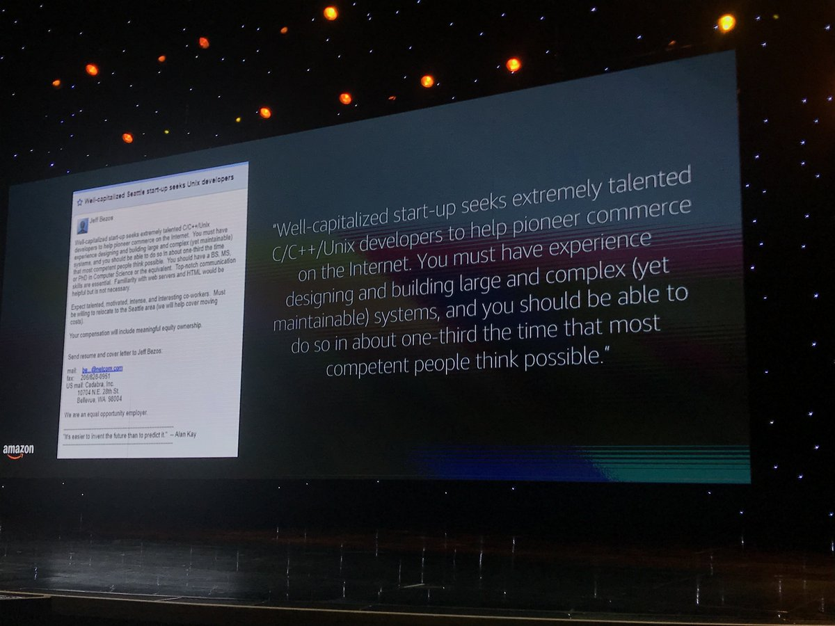 brentwpeterson: First developer ad placed by Jeff Bezos  #MagentoImagine https://t.co/ZGNuqAiTdx