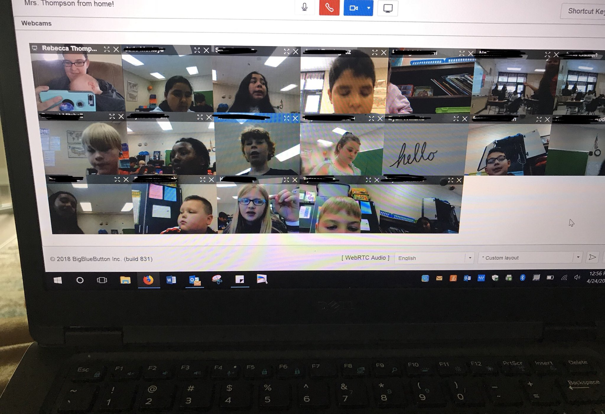 Thanks to @CanvasLMS, I was able to schedule a video conference with my whole class to discuss their math milestones review work and how their day has been going! I'm at home with a sweet sick baby but that didn't stop our class from meeting together! 👏🏼👏🏼👏🏼 https://t.co/5pqTQ9GHyC