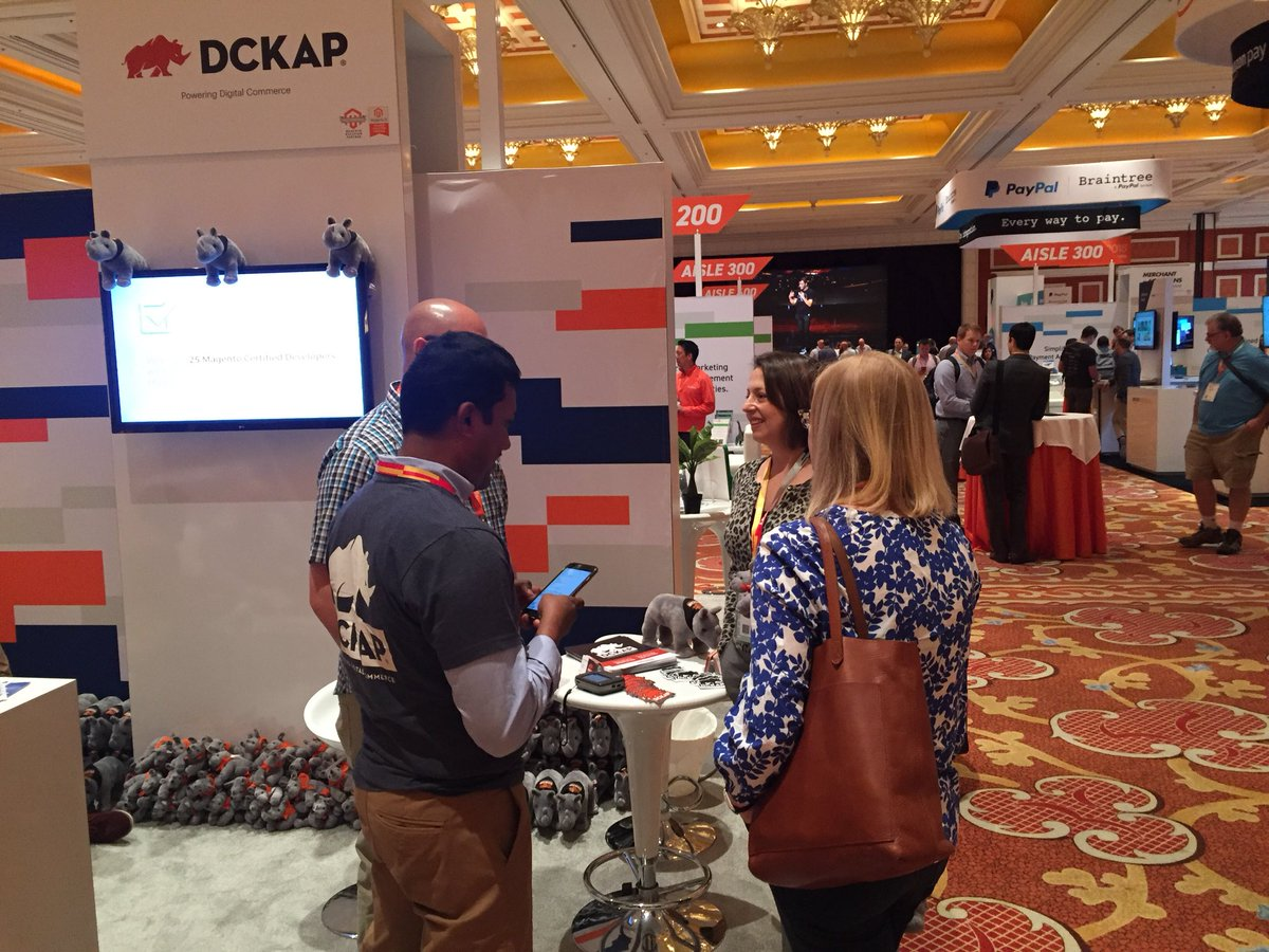 DCKAP: Meet us @magento Imagine sponsors marketplace AISLE 100 #MagentoImagine https://t.co/Fvn9k6vPVu