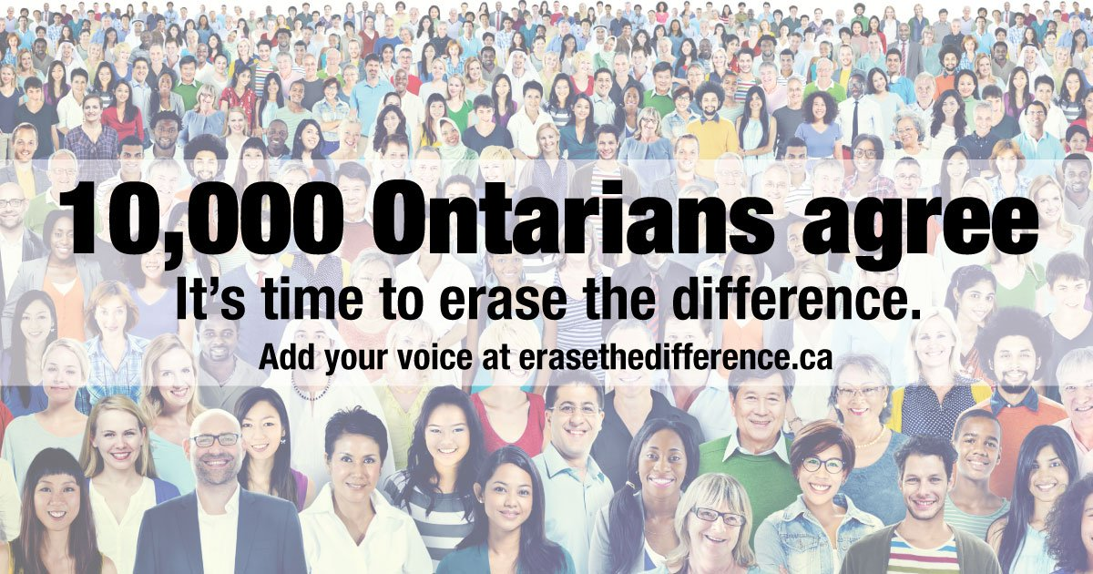 test Twitter Media - It's official - 10,000 Ontarians believe it's time to #erasethedifference and fund mental health and addictions care the same as physical health care. Add your voice https://t.co/uKLCyV82PD #ErasetheDifference https://t.co/kCgl7CthAR