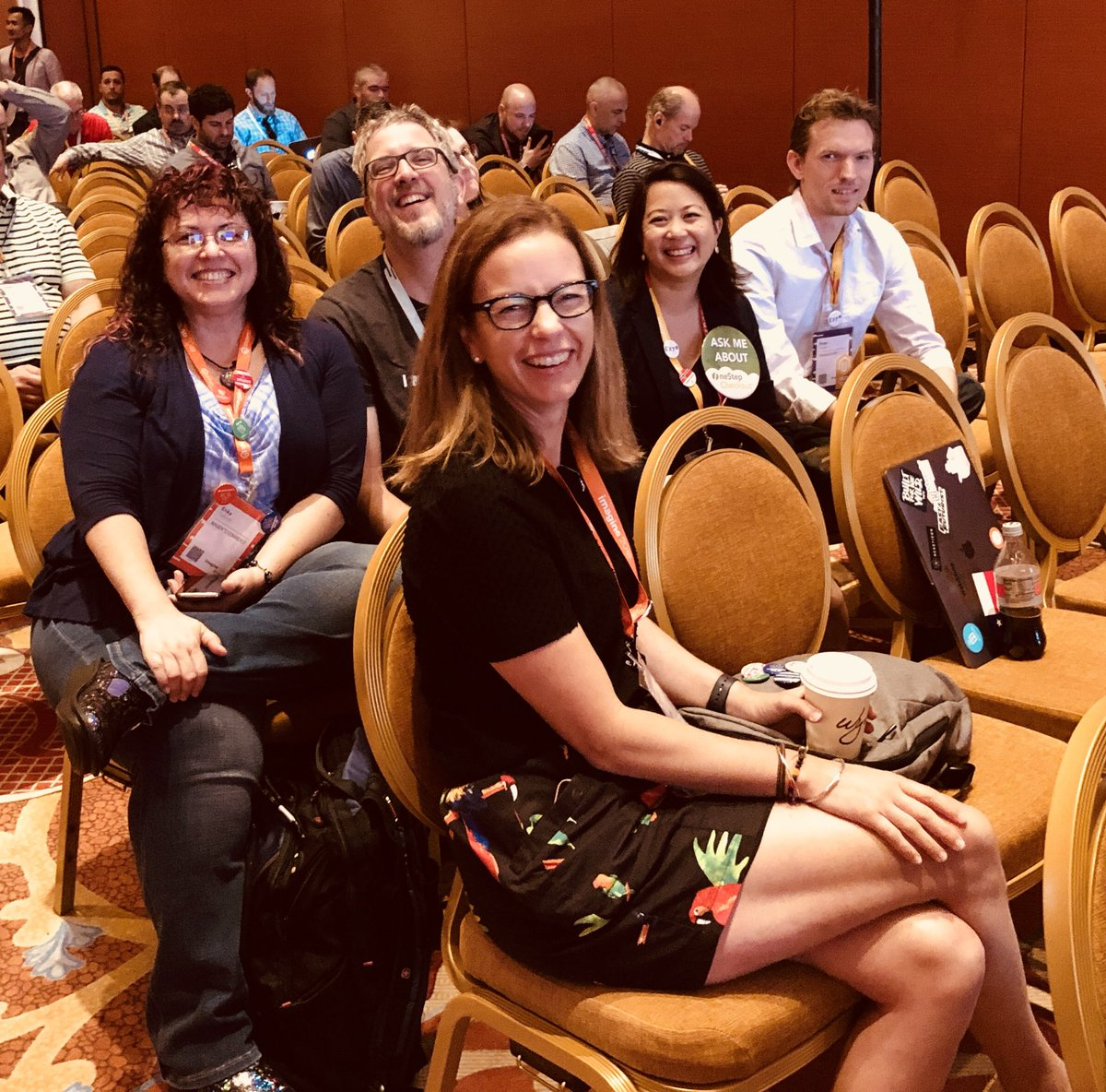 WebShopApps: Some of the @ext_dn crowd at the marketplace talk #MagentoImagine https://t.co/SztBAEzDz3