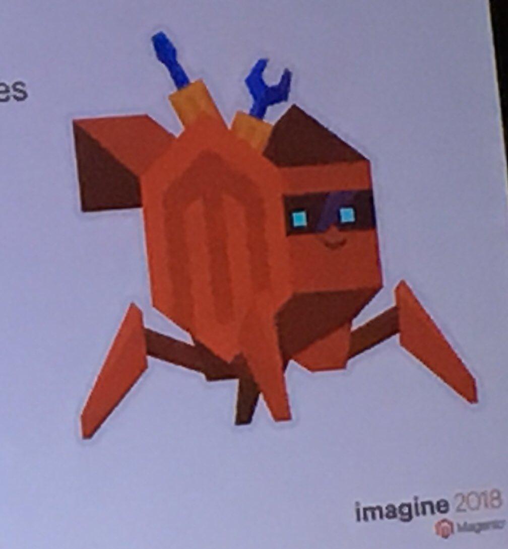 piotrekkaminski: A MageCrab in @atwixcom presentation! #MagentoImagine https://t.co/Lkb8Y39ZdN