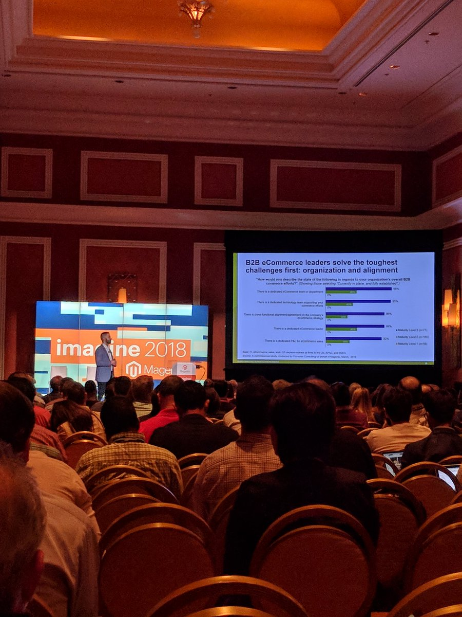 jasonevans1: Very interesting talk about what it takes to be a B2B e-commerce leader. #MagentoImagine https://t.co/AYIYOeKxE9