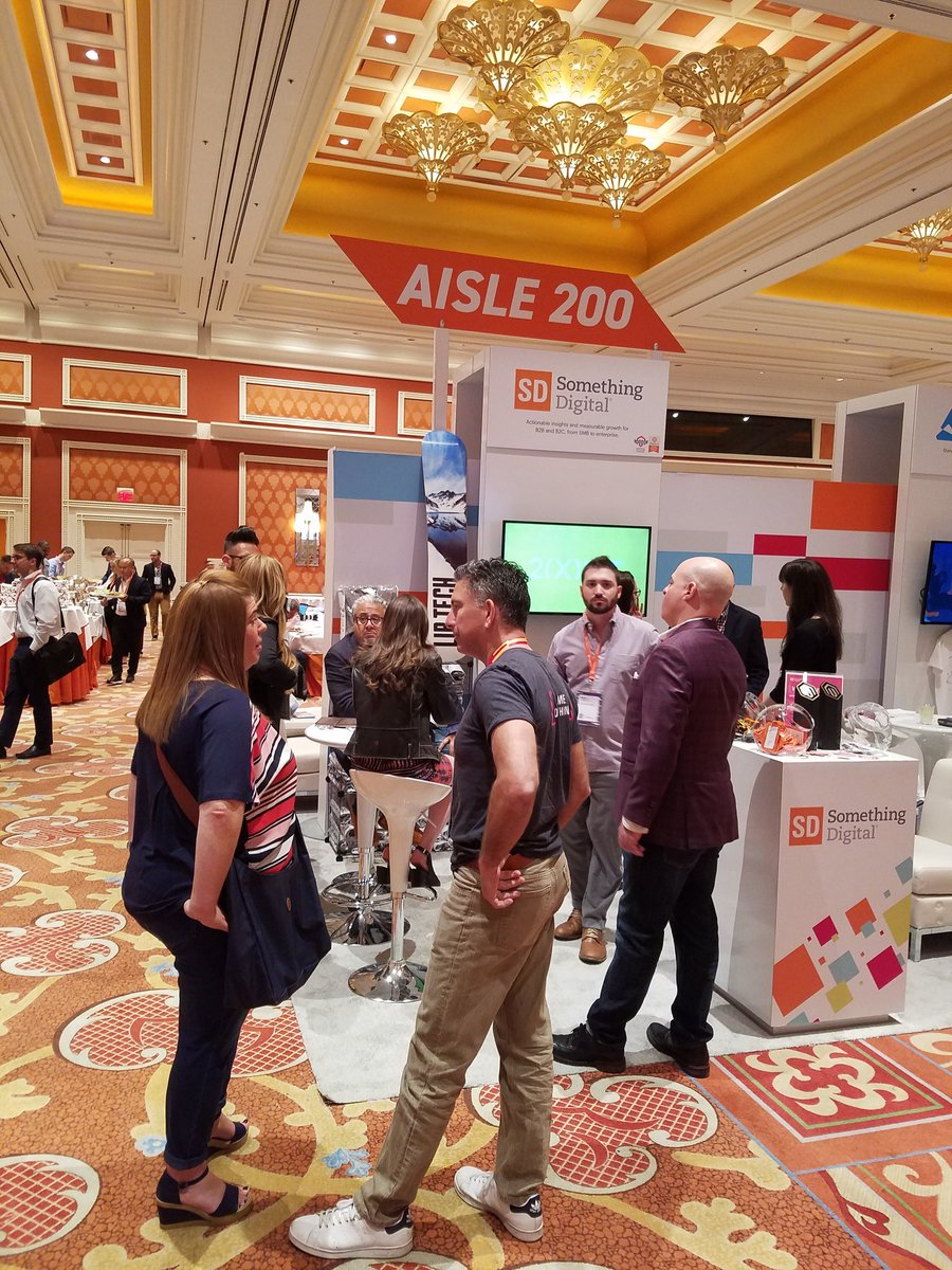 magento: #MagentoMaster @philwinkle spotted at the busy @SomethingDigitl booth. #MagentoImagine https://t.co/OICfmMWdxv