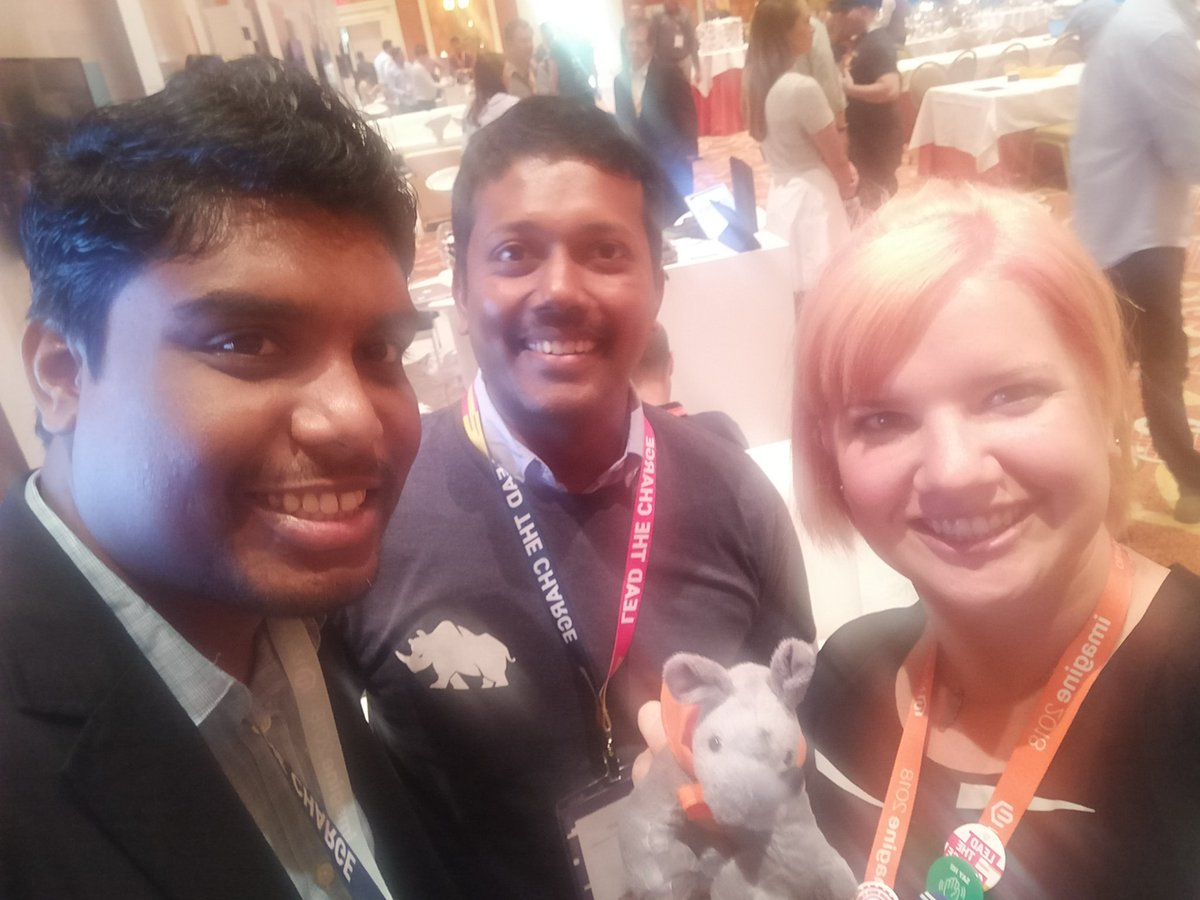 sherrierohde: Found @nmohanswe and @chatwithKC, thanks for the 🦏! #MagentoImagine https://t.co/XBQIqoechn