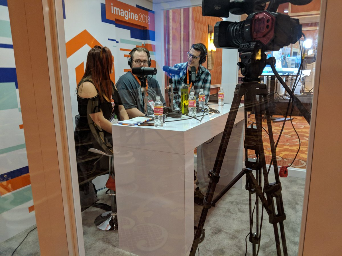 ddavidn: Podcast booth has some all-stars right now @#MagentoImagine https://t.co/jf9PUidmhq