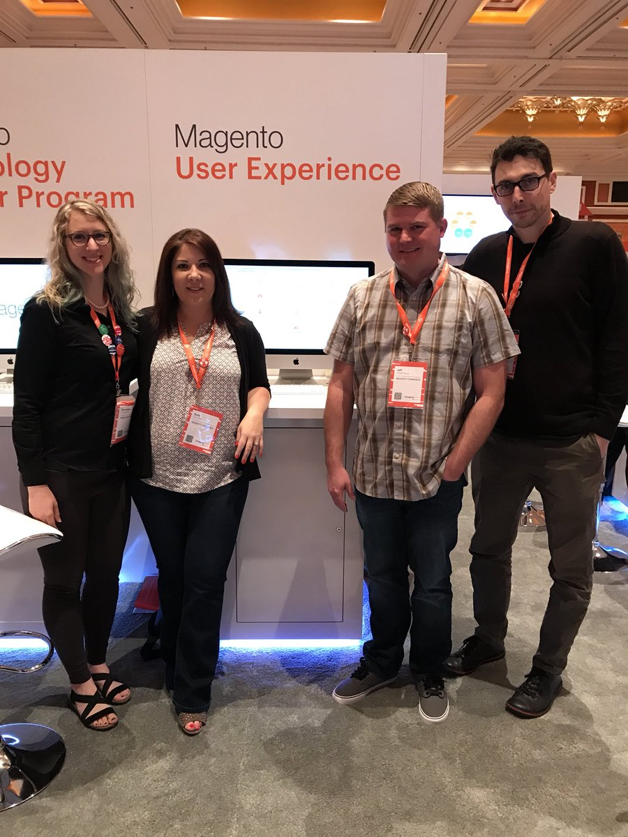gsicotte: Come say hi to the @magentoUX and @MagentoDevDocs teams at the booth. #MagentoImagine https://t.co/7WV1A81L6M