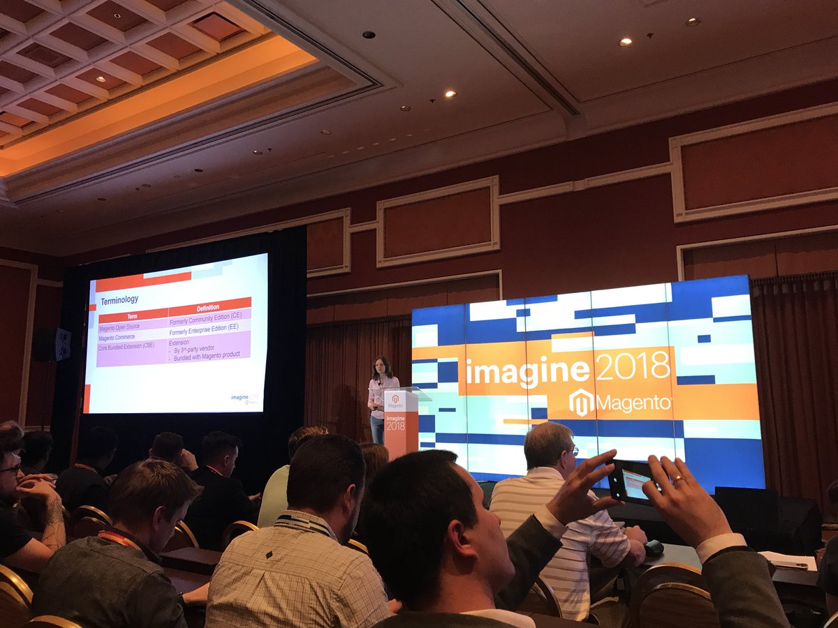 wearejh: What's new in Magento 2.3 with @buskamuza #MagentoImagine https://t.co/44MHkVy7VJ