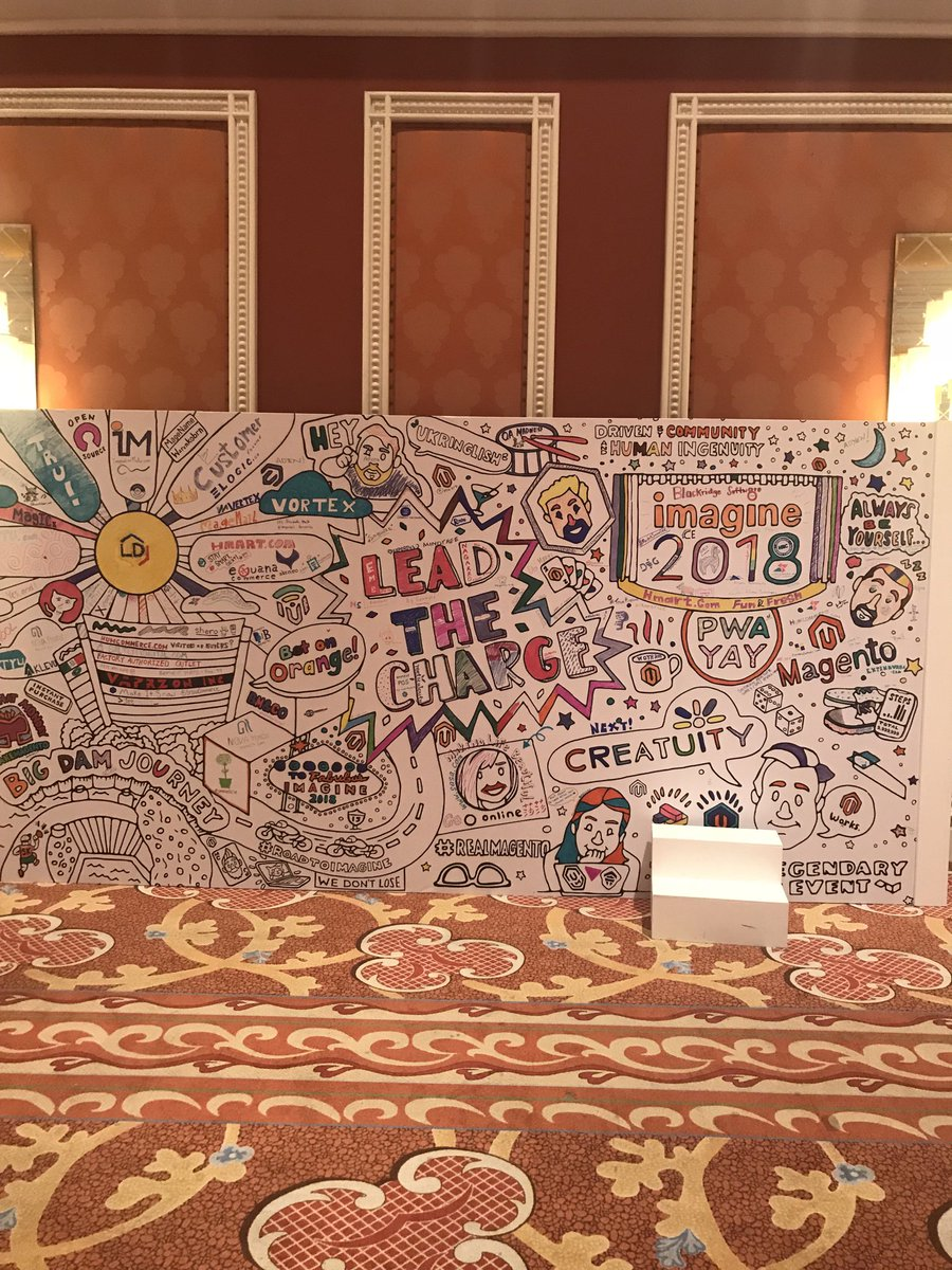 joshdw1: The #MagentoImagine community mural is looking really good! https://t.co/VNWipVk9Sk