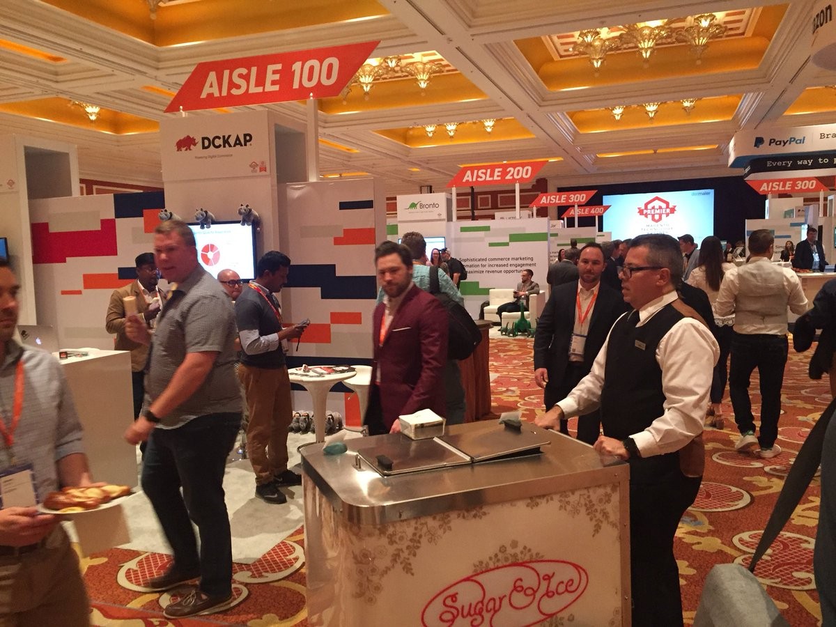 DCKAP: The ice cream vendor is near by AISLE 100. Delicious one. #MagentoImagine https://t.co/A4G4K22EHn