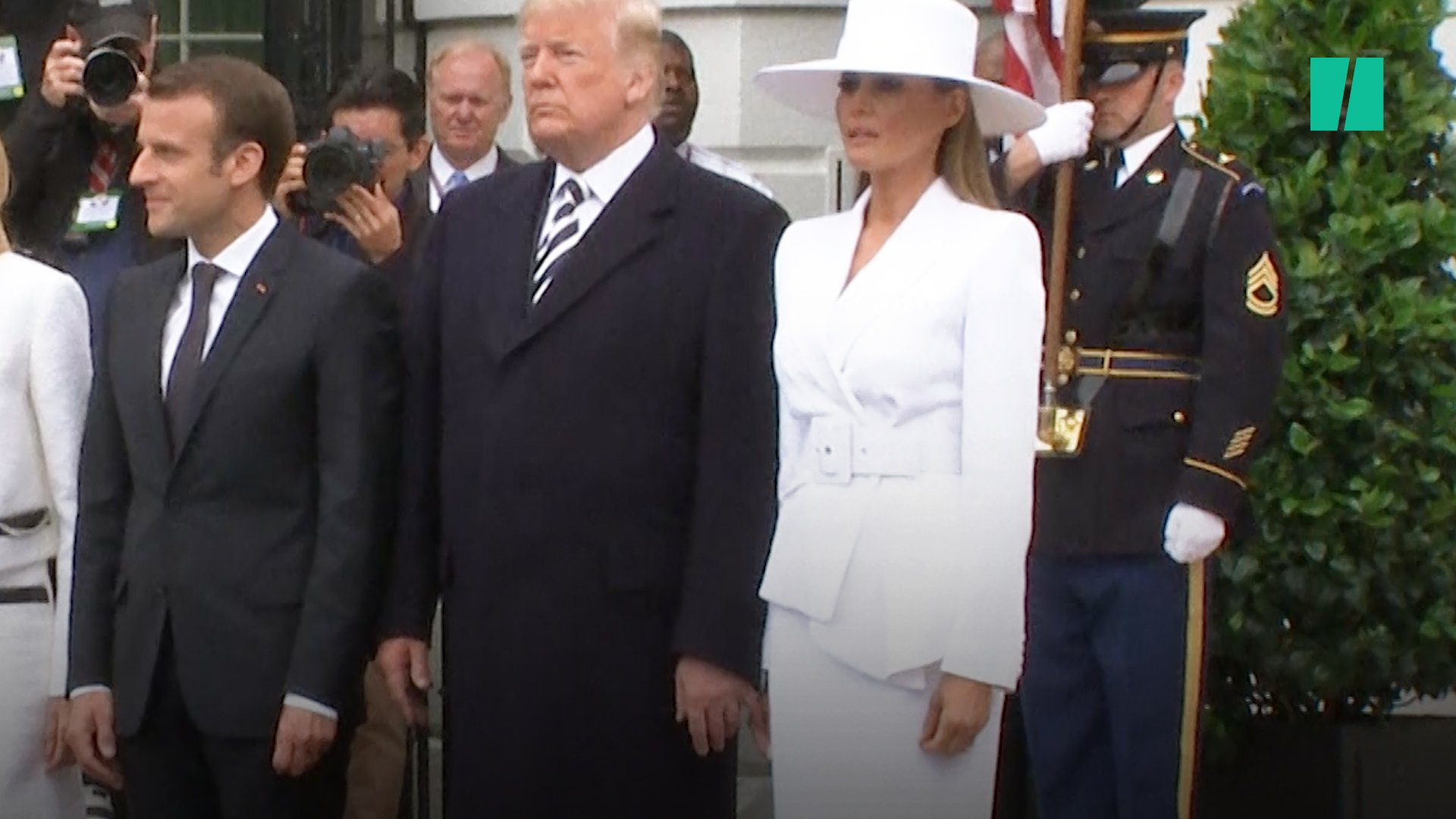 We saw the return of Melania brushing off her husband's hand AND Trump's bizarre handshake all in one day. https://t.co/38KoH0OZDl